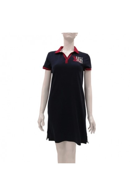 Hush Puppies Alana Short Sleeve A Line Dress With Collar |HLD049269