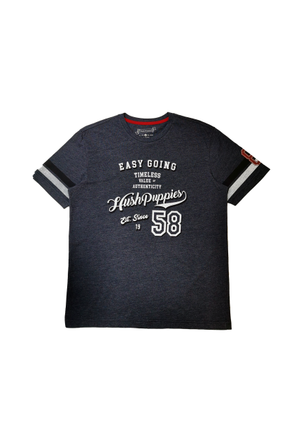 Hush Puppies-Diego Round Neck Tee With Graphic Print |HMT049427
