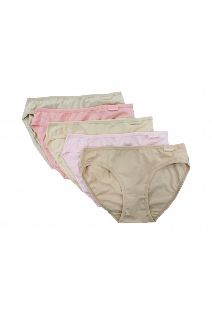 Hush Puppies - 5 pack Cotton Lycra Ladies Minis |HLU807245